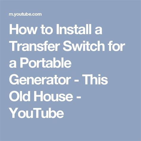 25 best ideas about transfer switch on