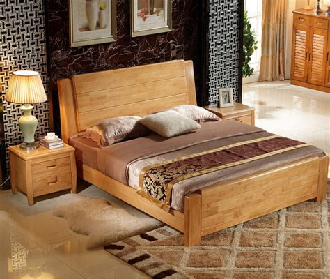 quality bedding and furniture high quality bed oak bedroom furniture bed solid wood