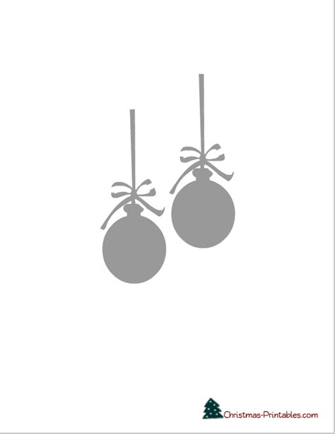 free printable christmas ornaments stencils free printable christmas stencils