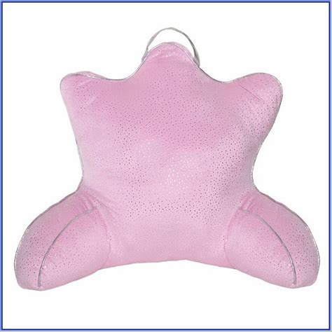 Upright Pillow With Arms by Bed Rest Pillow With Arms Washed Blue Bedrest Pillow