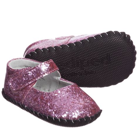 pediped baby shoes pediped originals 0 24mth pink glitter delaney