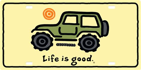 jeep life logo life is good jeep license plate license plate license