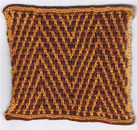 how to do mosaic knitting zebra chevrons in slip stitch or mosaic colourwork