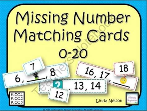 Sequence Number On Gift Card - sequence of numbers matching cards 0 20 from primaryinspiration on teachersnotebook