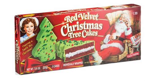 little debbie red velvet christmas tree cakes 5 count hy