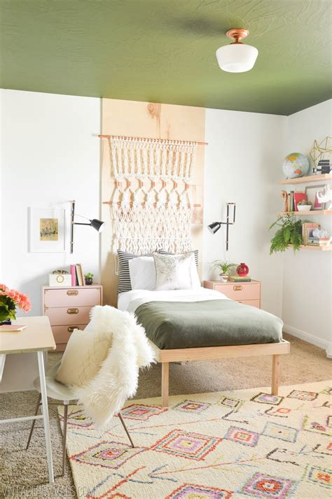 diy ideas for bedroom makeover macie s boho bedroom makeover reveal vintage revivals