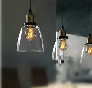 Filament Pendant Lighting Fashion Clear Glass Cloche Filament Pendant Light Buy Glass Pendant Light Clear Glass