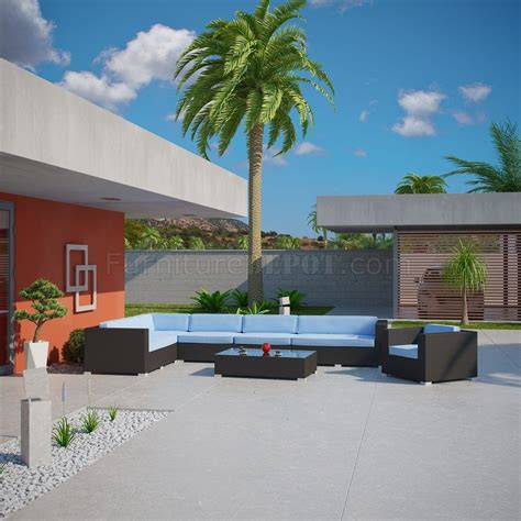 palm outdoor patio sectional 7pc set choice of color by modway