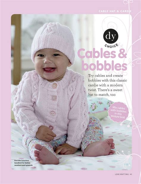 cardigan for baby cables and bobble hat and cardigan for baby knitting free