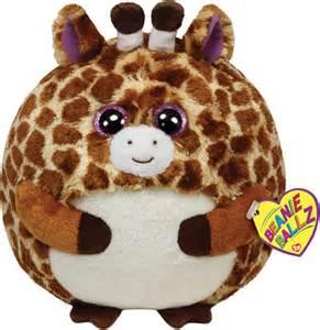 peluches ty serie beanie ballz peluche giraffa tippy palla 12 cm 04723