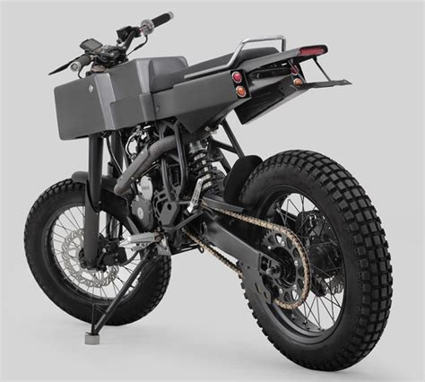 Cross Motorrad by T 005 Cross Motorcycle Features Boxy Shaped Tuvie