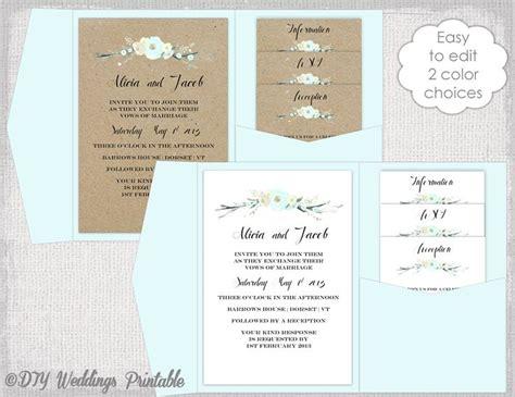 free wedding invitation templates 5x7 pocket wedding invitation template diy pocketfold wedding