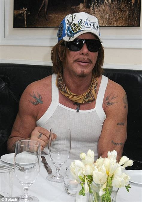 mickey rourke tattoo pics photos pictures of his tattoos