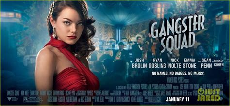 new film with emma stone emma stone new movie 43 gangster squad posters
