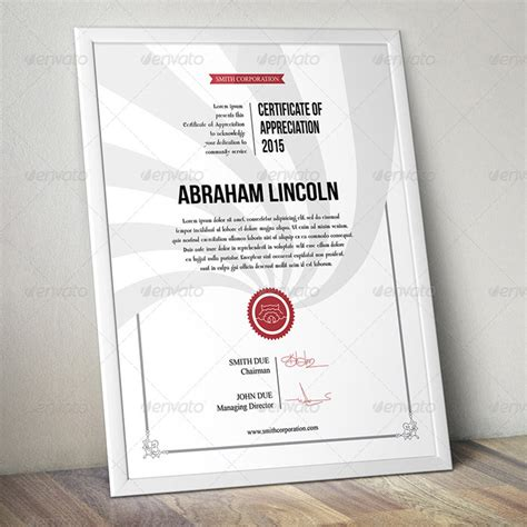 certificate psd template 15 fascinating printable certificates of appreciation