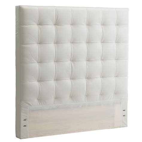 how to make leather headboard west elm headboards white cabana