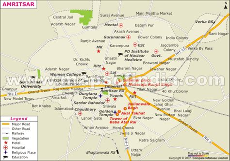 amritsar maps amritsar map and amritsar satellite image