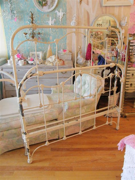 Shabby Chic Metal Bed Frame Antique Iron Shabby Chic Bed Frame By Vintagechicfurniture