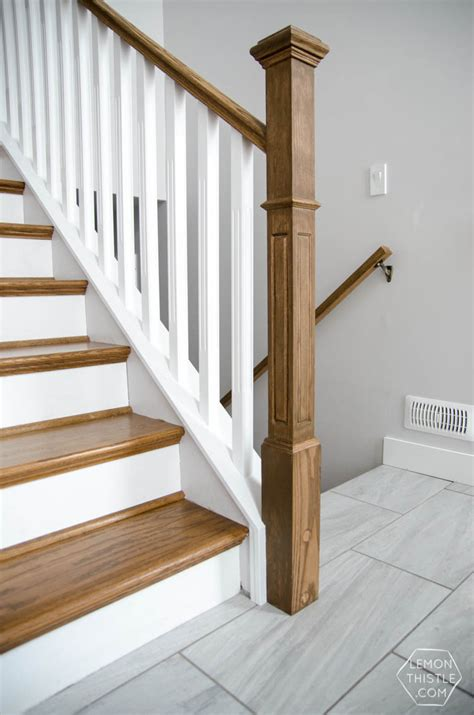 installing a banister how to install a wooden handrail on split level stairs