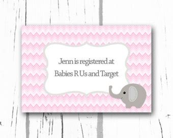 Printable Registry Card Template by Baby Registry Etsy