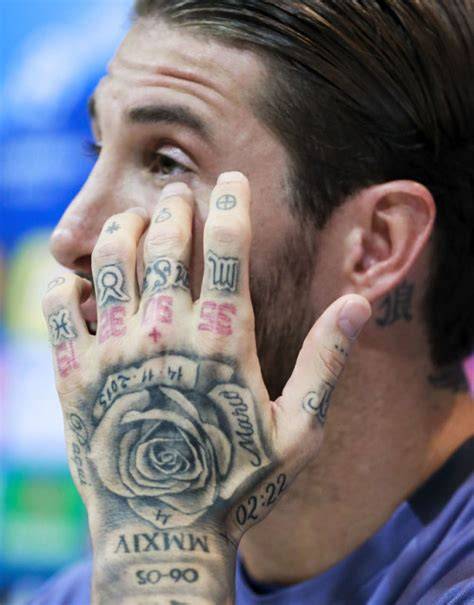 sergio ramos tattoos sergio ramos tattoos