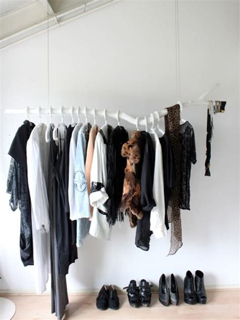 Diy Hanging Clothes Rack by Chic Diy Clothes Rack Ideas
