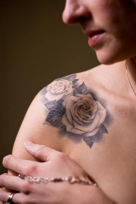 black and white rose tattoos on shoulder 22 awesome white images pictures and design ideas