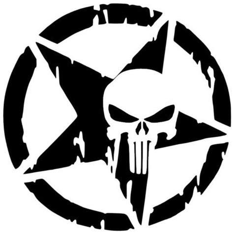 design car stying  punisher skull car sticker