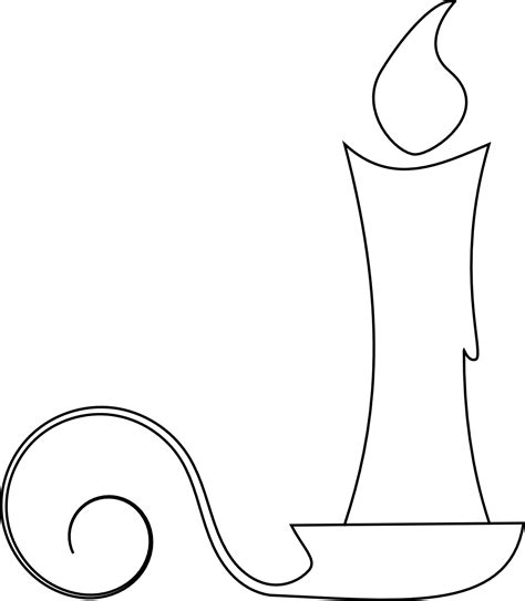 candle template best photos of candle template printable