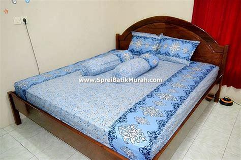 Bed Murah Pekalongan sprei batik murah biru laut
