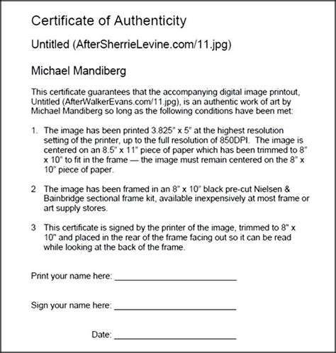 download certificate of authenticity pdf sle templates