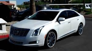 Cadillac Xts On 24s 2013 Cadillac Xts White Tricoat Rear Vision