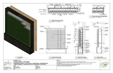 green wall detail section green wall section detail construction methods best images
