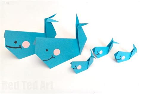 How To Make A Paper Whale - easy origami for ted s