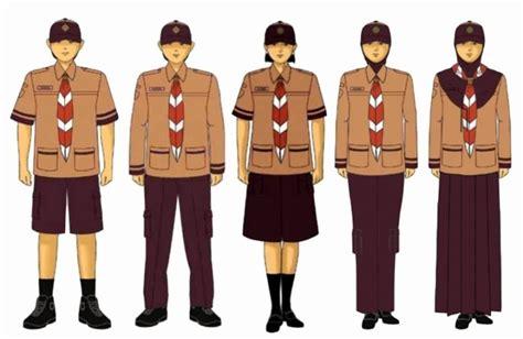 Baju Pramuka Standar Nasional seragam pramuka sd terbaru beserta kelengkapan atributnya