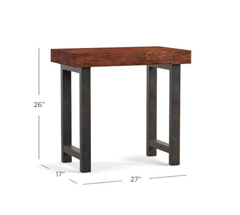 griffin reclaimed wood side table griffin reclaimed wood end table pottery barn