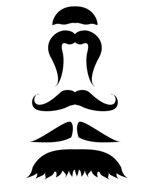 mustache template printable printable mustache template movember photo
