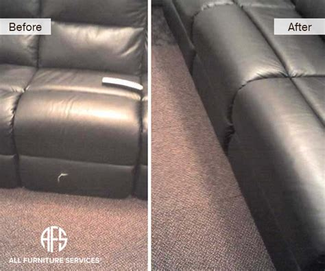 leather sofa repair tear gallery before after pictures all furniture services
