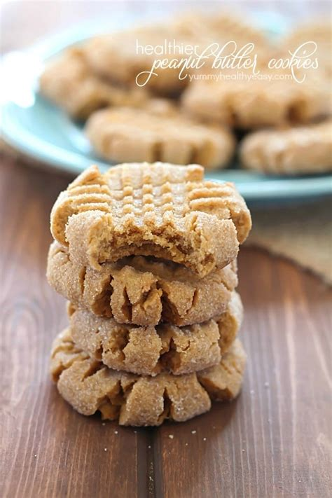 healthier easy peanut butter cookies yummy healthy easy