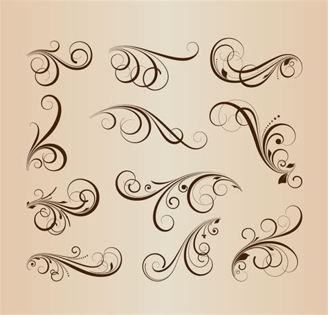 vector collection of floral design elements free vector graphics all free web resources for