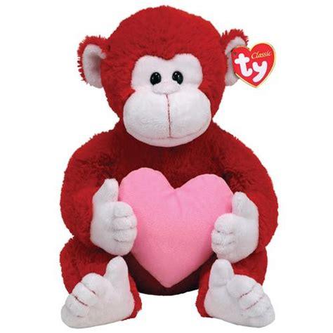 big stuffed monkey for valentines day stuffedanimals com stuffed plush monkeys ty classic