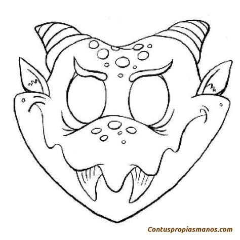 mascaras de carnaval para colorear contuspropiasmanos free coloring pages of mascara terror