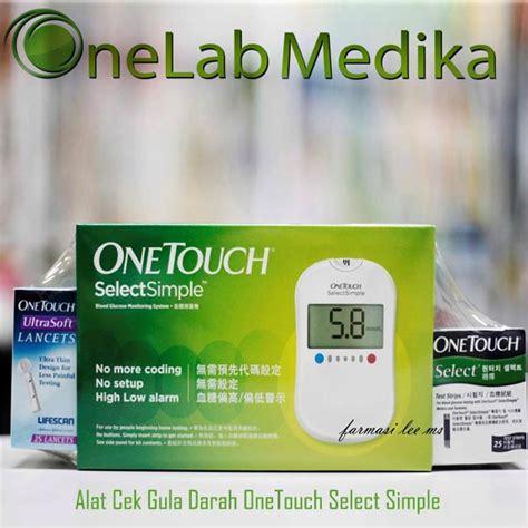 Alat Tes Cek Gula Darah cek gula darah one touch select onelab medika