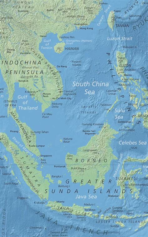 sea map political map of south china sea nations project