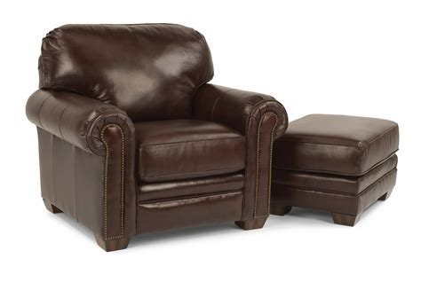 flexsteel harrison upholstered chair and ottoman h l