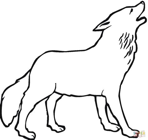 howling wolf coloring pages howling wolf coloring page free printable coloring pages