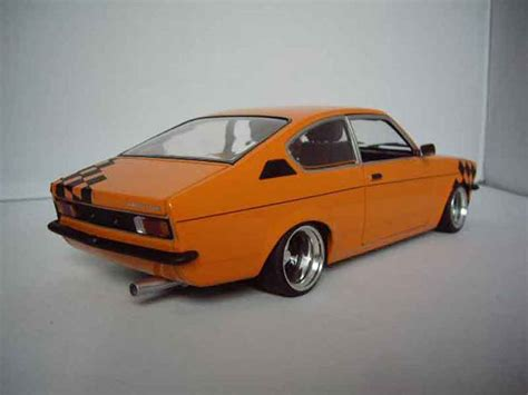 opel orange opel kadett coupe miniature sr 1976 orange minichs 1 18
