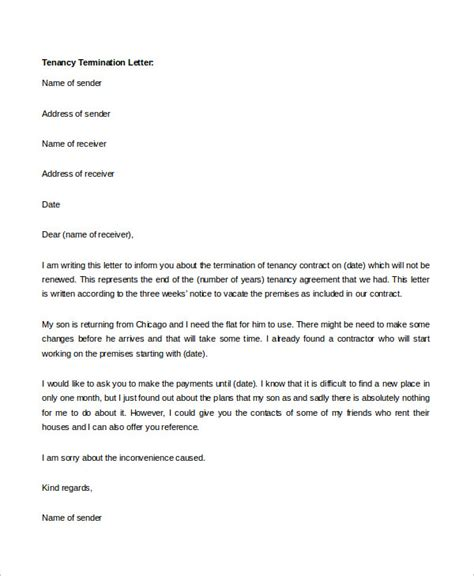 Sle Tenancy Letter From Landlord Tenancy Termination Letter Sle Nz 28 Images 26 Lease Agreement Sles Sle Lease Termination