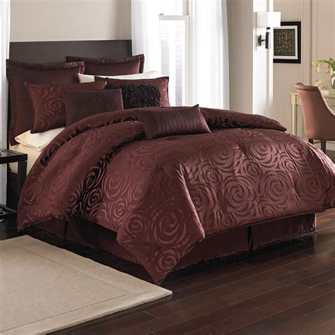 nicole miller comforters 4pc nicole miller madison merlot full bed comforter set