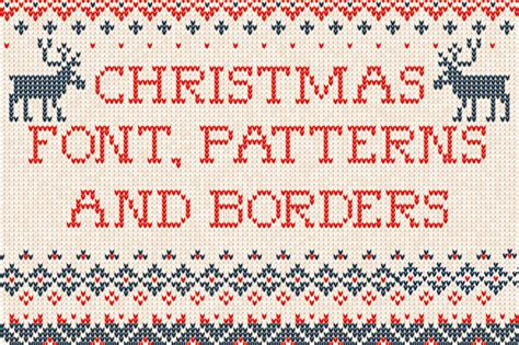 christmas pattern font family knitted christmas patterns vector 187 designtube creative